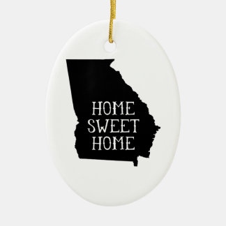 Home Sweet Home Georgia Ceramic Oval Decoration