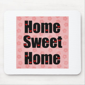 Home Sweet Home Heart Design Mouse Pad