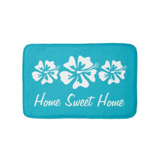 Home sweet home hibiscus flower non slip bath mat bath mats