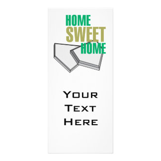 home sweet home home plate baseball design personalized rack card