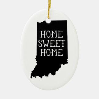 Home Sweet Home Indiana Christmas Ornament