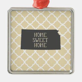 Home Sweet Home Kansas Christmas Ornament