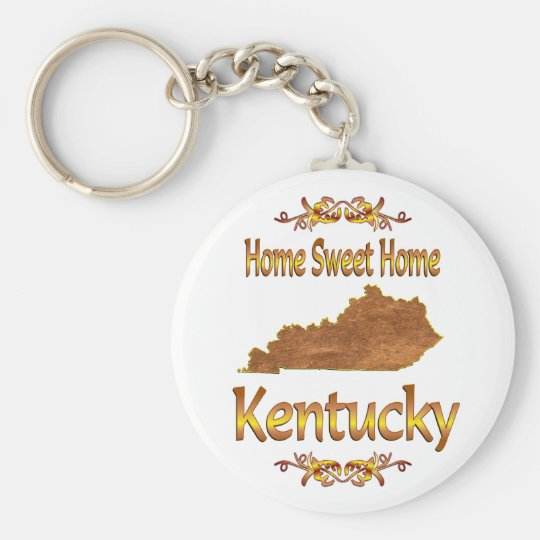 Home Sweet Home Kentucky Basic Round Button Key Ring