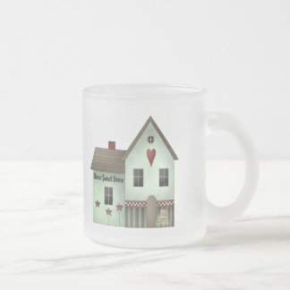 Home Sweet Home Kids T Shirts and Kids Gifts Frosted Glass Mug