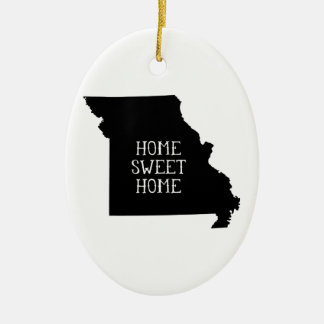 Home Sweet Home Missouri Ceramic Oval Decoration