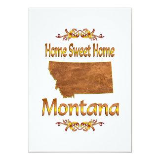 "Home Sweet Home Montana 5"" X 7"" Invitation Card"