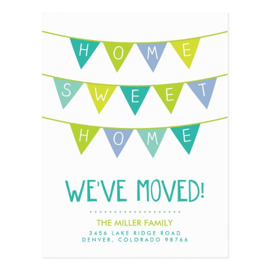 Home Sweet Home Moving Announcement Postcard