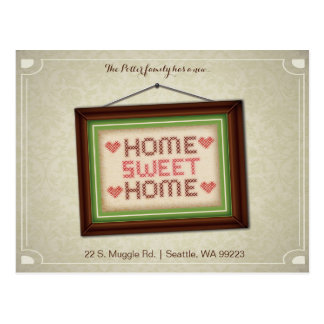 Home Sweet Home Moving Announcement Postcard. Postcard