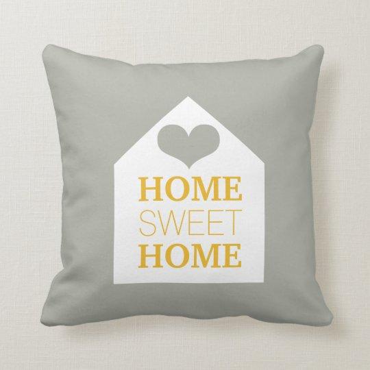 HOME SWEET HOME Mustard Grey & Yellow Pillow