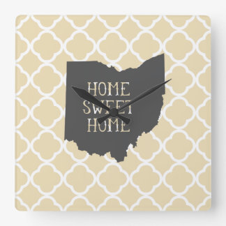 Home Sweet Home Ohio Wallclock