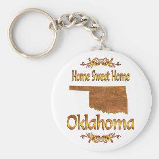 Home Sweet Home Oklahoma Key Ring
