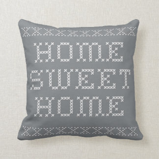 Home Sweet Home on Grey Pillow