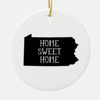 Home Sweet Home Pennsylvania Christmas Ornament