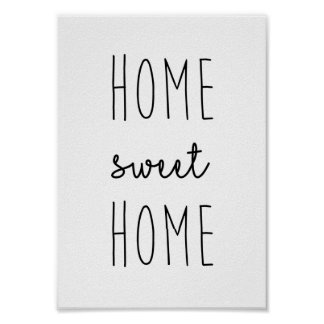 Home Sweet Home Print Poster