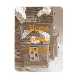 Home sweet home rectangular photo magnet