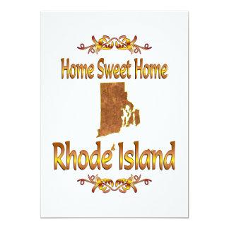 "Home Sweet Home Rhode Island 5"" X 7"" Invitation Card"