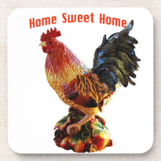 Home Sweet Home Rooster Drink Coasters