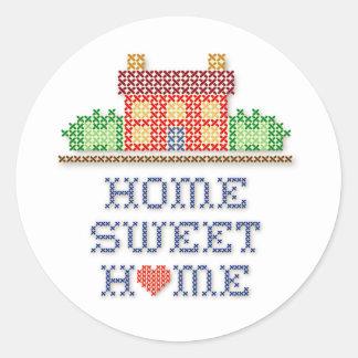 Home Sweet Home Round Sticker