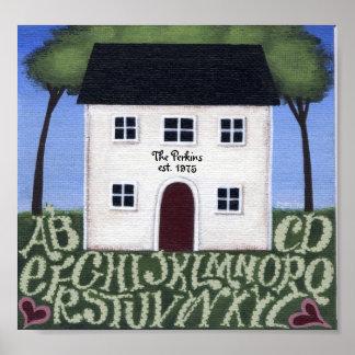 Home Sweet Home Sampler Poster