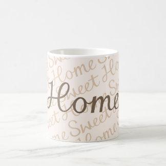 Home Sweet Home Script Design in Browns Coffee Mug