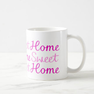 Home Sweet Home Script Design in Pinks Mug