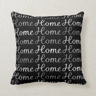 Home Sweet Home Script - Monochrome Cushion