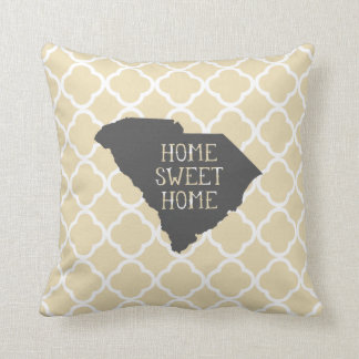 Home Sweet Home South Carolina Throw Pillow