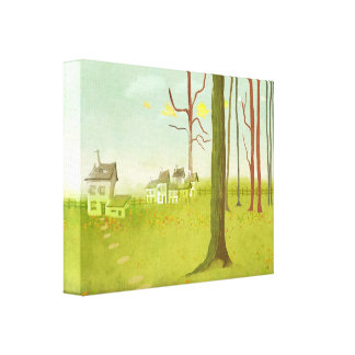 Home Sweet Home Stretched Canvas Print