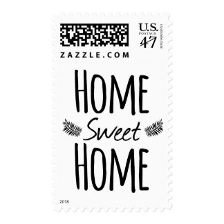 Home Sweet Home Typography Postage