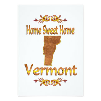 "Home Sweet Home Vermont 5"" X 7"" Invitation Card"