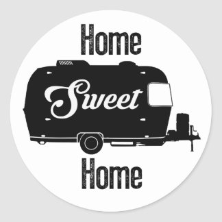 Home Sweet Home - Vintage Camper Vintage Trailer Round Sticker