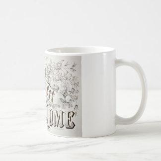 Home Sweet Home Vintage Design Basic White Mug