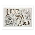 Home Sweet Home Vintage Design Postcards