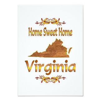 "Home Sweet Home Virginia 5"" X 7"" Invitation Card"
