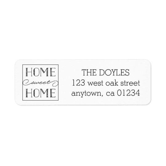 Home Sweet Home White | Return Address Labels
