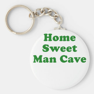 Home Sweet Man Cave Key Chains