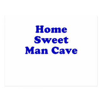 Home Sweet Man Cave Postcard