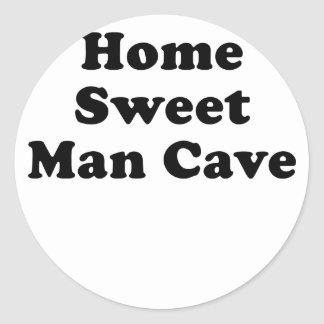 Home Sweet Man Cave Round Stickers