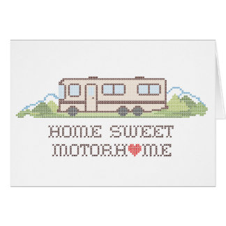 Home Sweet Motor Home, Class A Fun Road Trip Greeting Card