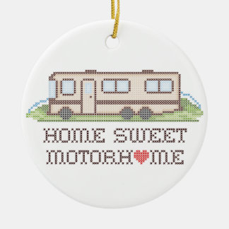 Home Sweet Motor Home, Class A Fun Road Trip Round Ceramic Decoration