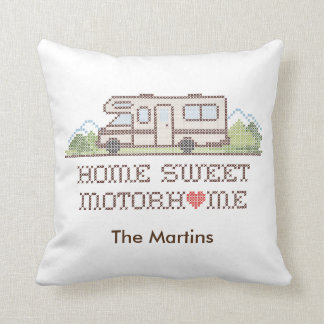Home Sweet Motor Home, Class C Fun Road Trip Cushion