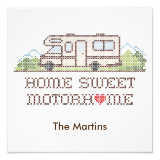 Home Sweet Motor Home, Class C Fun Road Trip Photo Art