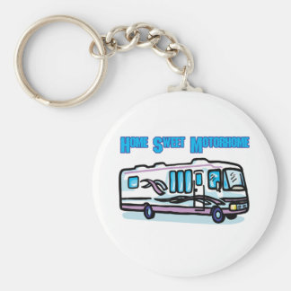 Home Sweet Motorhome Basic Round Button Key Ring