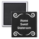 Home Sweet Stateroom Door Marker Square Magnet