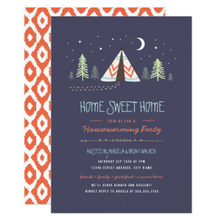 Home Sweet Tipi Housewarming Invite