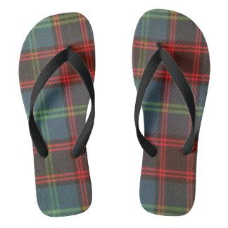 Home Tartan Flip Flops