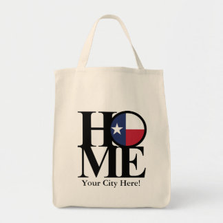 HOME Texas Tote- Add your city name Tote Bag