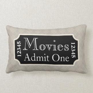 Home Theater Movie Ticket Cinema Pillow Decor