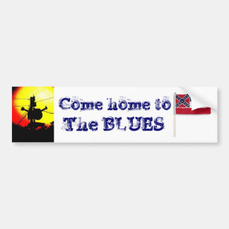 Home to the Blues Bumper Sticker