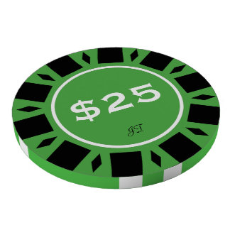 Home Tournament Poker Chips Green 25 Your Brand